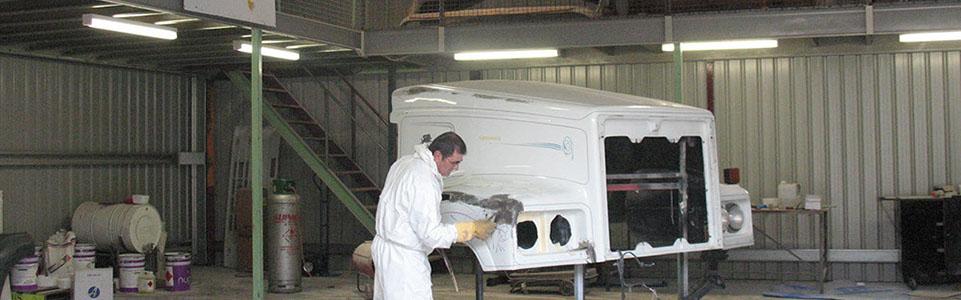 fibreglass replacement on truck